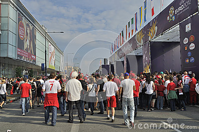 Fan Zone EURO 2012 Editorial Photo