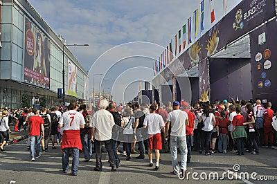Fan Zone EURO 2012 Editorial Photo
