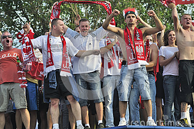 Fan Zone EURO 2012 Editorial Stock Photo
