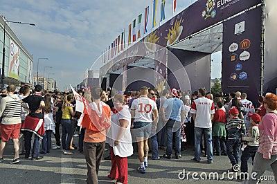 Fan Zone EURO 2012 Editorial Stock Image