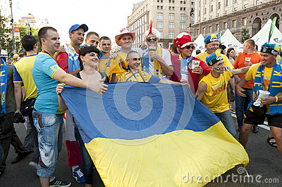 Fan Zone  EURO 2012 Editorial Image