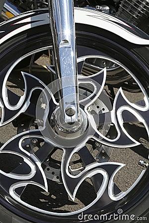 Fancy alloy motorcycle wheel