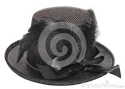 Fancy black hat