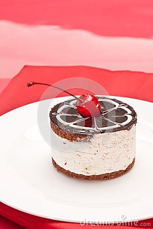 Fancy cake with cherry