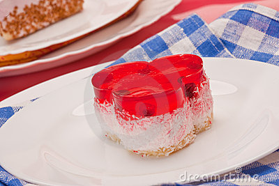 Fancy cake with cranberry