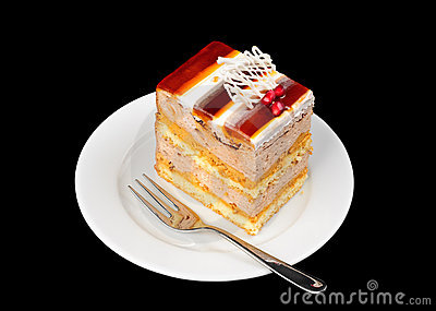 Fancy cake with jelly on top
