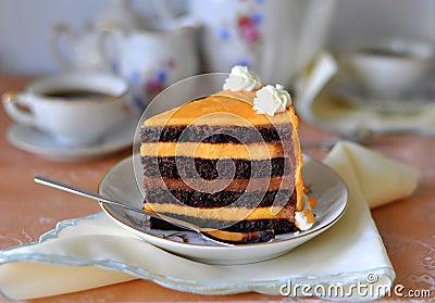 Fancy Chocolate & Orange Cake