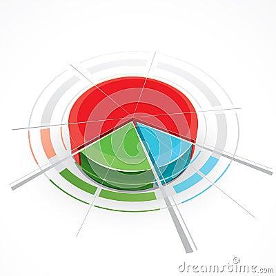 Fancy colored pie chart