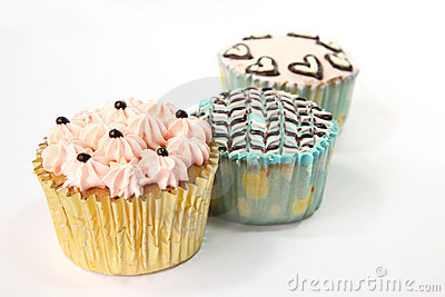 Fancy decorated cupcakes