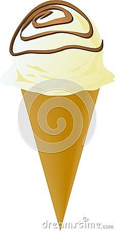 Fancy decorated ice cream