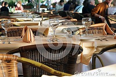 Fancy Dinner Table at Restaurant