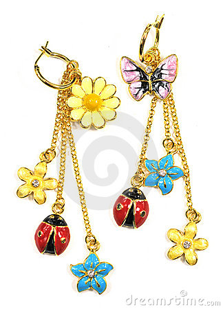 Free Fancy Earring Stock Photography - 5419182
