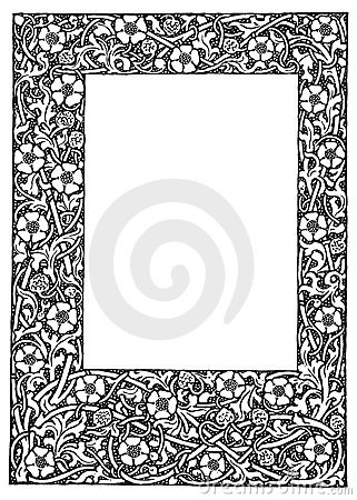 Free Fancy Floral Filagree Frame Vector Illustration Royalty Free Stock Image - 14003756