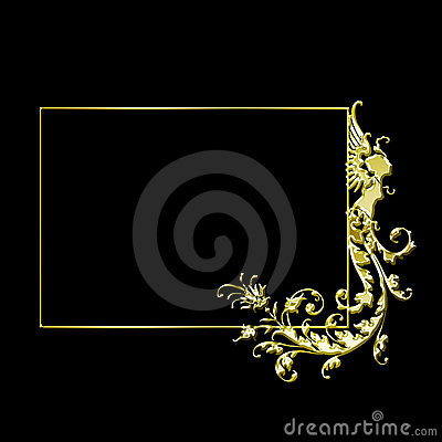 Fancy gold vector frame