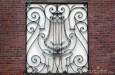 Fancy musical iron work