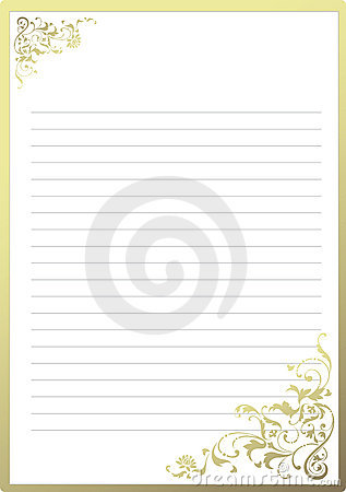 Fancy notepaper