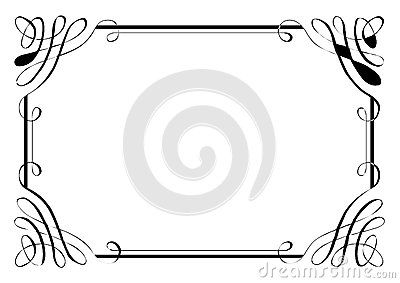 Fancy frame border fancy borders ornate squiggles fancy fancy frame border fancy page border four cartoon vector frame voltagebd Image collections