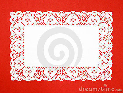 Fancy Real White Doily Royalty Free Stock Photography - Image: 21068687