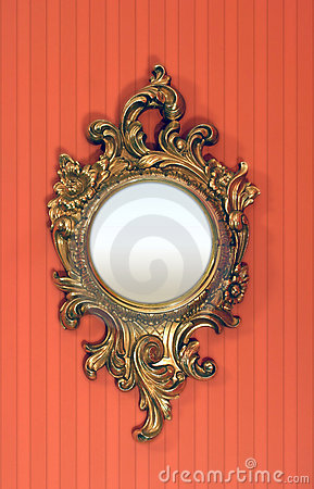 Fancy Round Picture Frame