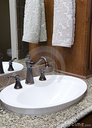 Fancy sink with hand towel