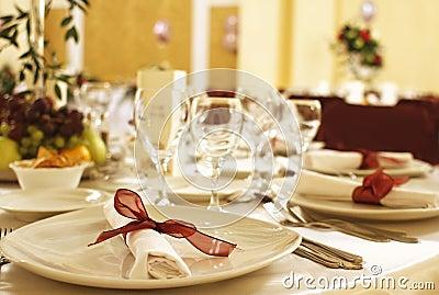 Fancy table arrangement
