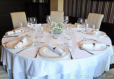 Fancy Table Set For A Dinner Stock Image Image 3536261