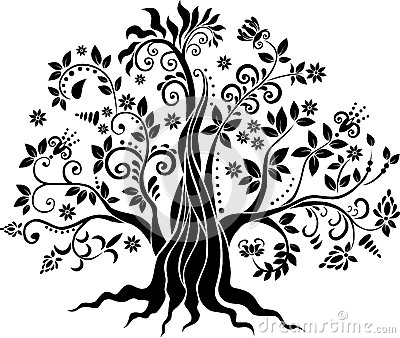 Fancy tree vector art