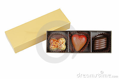 Fancy valentine chocolate box