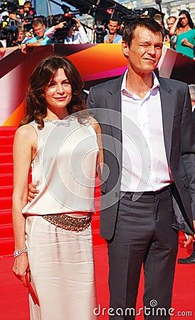 Fandera and Yankovskiy at Moscow Film Festival Editorial Image