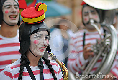 Fanfare girl Editorial Image