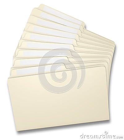 Fanned File Folders