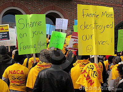 Fannie Mae Protesters Editorial Stock Photo