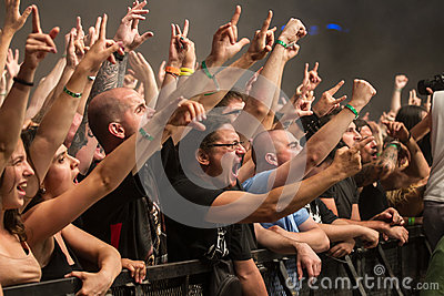 Fans Editorial Stock Photo
