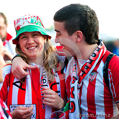 Fans of Atletico Bilbao Editorial Stock Photo