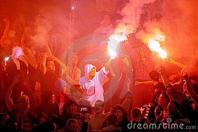 Fans celebrating the goal Editorial Image
