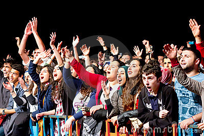 Fans cheer up Editorial Image