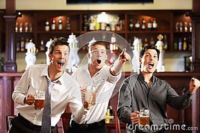Fans at the pub