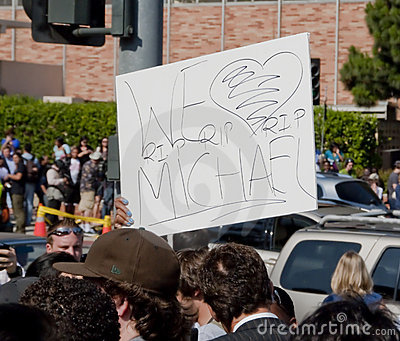 Fans Remembering Michael Jackson Editorial Image