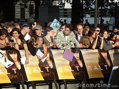 Fans At Salt Premiere Editorial Photo