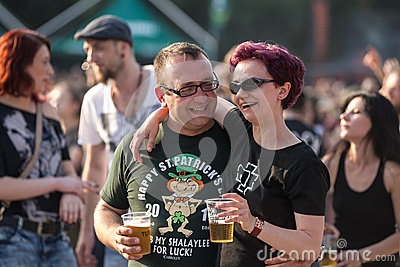 Fans at Tuborg Green Fest Editorial Stock Image