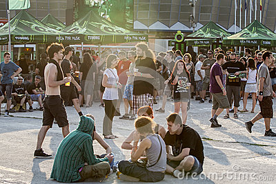 Fans at Tuborg Green Fest Editorial Image