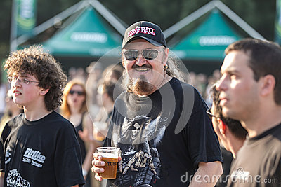 Fans at Tuborg Green Fest Editorial Photo