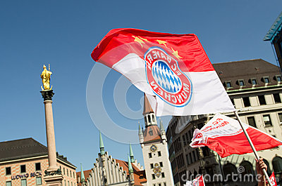Fans at the UEFA Champions League Finale in Munich Editorial Stock Image