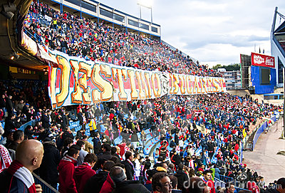 Fans at the Vicente Calderon , Madrid Editorial Image