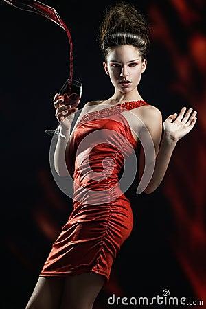 Fantasia nel colore rosso