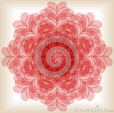 Blühende Blume Der Mandala Vektor Abbildung - Bild: 39409813