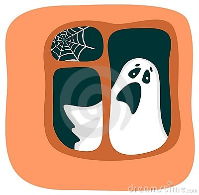 Fantasma in una finestra