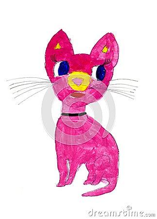 Fantastic animal - hand drawn kid s illustration