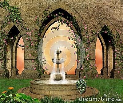 Fantastic castle garden