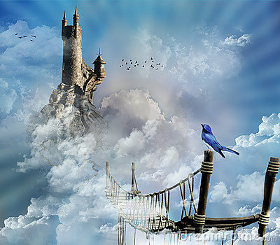 Fantastic castle in the sky